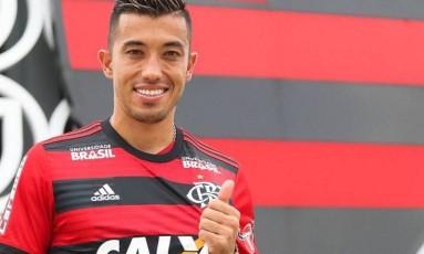 Uribe tem chances de ser titular contra o São Paulo Foto: Gilvan de Souza / Flamengo