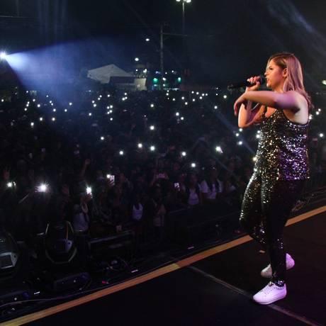 Com 20 shows por mês, os negócios ao redor de Marília Mendonça geram quase R$ 10 milhões mensais Foto: Fotoarena / Agência O Globo