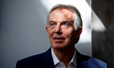Tony Blair fala em 'confusão completa' quando se refere ao Brexit Foto: TOLGA AKMEN / AFP