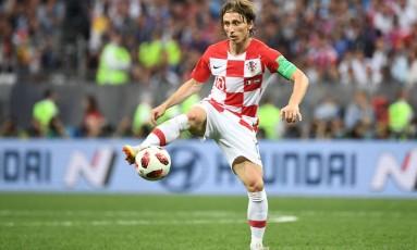 O croata Luka Modric foi considerado o melhor jogador da Copa do Mundo Foto: Franck Fife/15-7-2018 / AFP