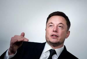 Proprietário da Tesla e da SpaceX, Elon Musk Foto: BRENDAN SMIALOWSKI / AFP