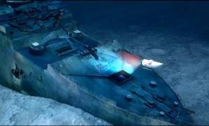 Projeção da Ocean Gate mostra como será o mergulho turístico ao Titanic Foto: Ocean Gate / Reprodução