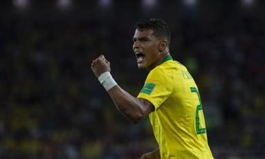 Thiago Silva foi um dos destaques do Brasil na Copa do Mundo Foto: Alexandre Cassiano / Agência O Globo