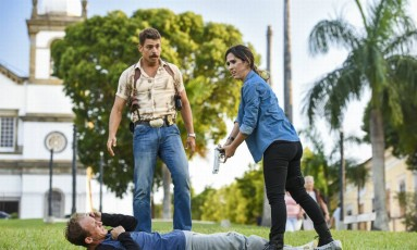 Cauã Reymond e Tatá Werneck no filme 'Uma Quase Dupla' Foto: Divulgação