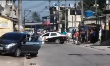 Polícia Civil faz perícia no local do crime, em Duque de Caxias Foto: Reprodução/Facebook