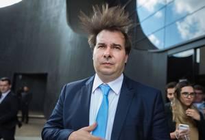 O deputado federal Rodrigo Maia durante evento em São Paulo Foto: Paulo Lopes