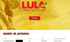 Lista de quem doou para a campanha do ex-presidente Lula Foto: Reprodução