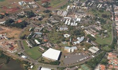 Vista aérea do campus da Unicamp: universidade do interior paulista lidera ranking da América Latina pelo segundo ano seguido Foto: Divulgação/24-08-2006