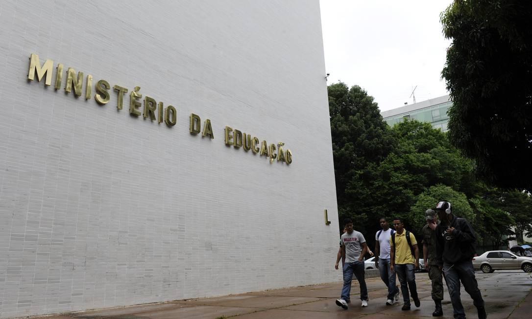 Fachada do Ministério da Educação (MEC), na Esplanada dos Ministérios, em Brasília Foto: Marcos Oliveira / Agência Senado