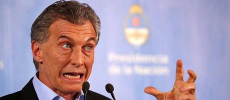 O presidente da Argetnina, Maurício Macri, durante a coletiva de imprensa desta quarta: debate deve ser valorizado Foto: REUTERS/Marcos Brindicci