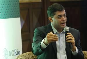 O candidato do PSD ao governo do Rio, Indio da Costa Foto: Antonio Scorza / Agência O Globo