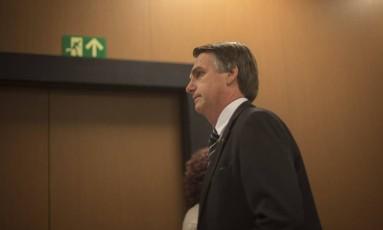 O pré-candidato do PSL à Presidência, Jair Bolsonaro. 04/07/2018 Foto: Daniel Marenco / Agência O Globo
