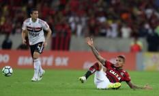 O atacante Paolo Guerrero, do Flamengo Foto: RICARDO MORAES / REUTERS