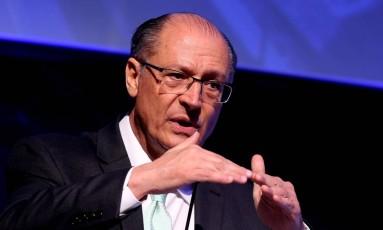 O pré-candidato do PSDB, Geraldo Alckmin, em evento em Brasília Foto: Ailton de Freitas / Agência O Globo