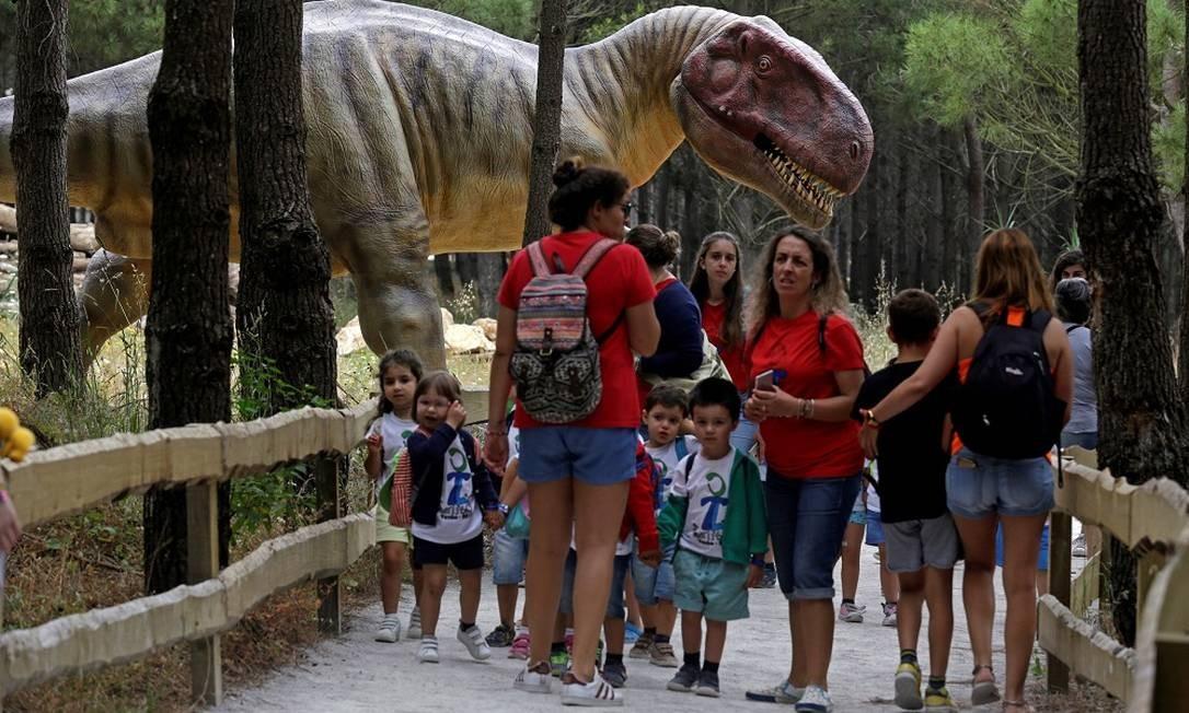 O parque é um programa concorrido entre grupos escolares da região, mas também atrai muitos turistas estrangeiros, sobretudo espanhóis e franceses Foto: JOSE MANUEL RIBEIRO / AFP