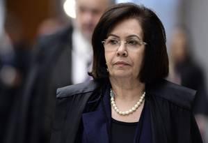 A ministra Laurita Vaz durante sessão do STJ Foto: Gustavo Lima/STJ/01-02-2018