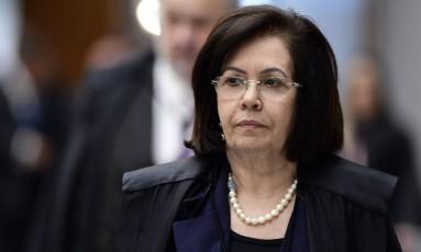 A presidente do STJ, ministra Laurita Vaz, durante sessão Foto: Gustavo Lima/STJ/01-02-2018