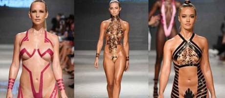 Modelos de Alvarez fizeram sucesso na Miami Swim Week Foto: Arun Nevader / Getty Images