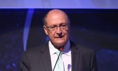 Geraldo Alckmin participa de evento com presidenciáveis em Brasília Foto: Ailton de Freitas/Agência O Globo/18-07-2018