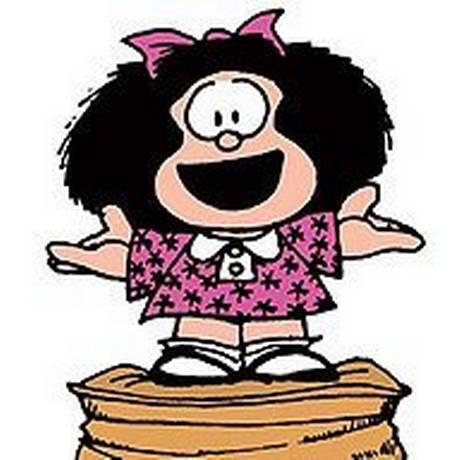 Mafalda, mais famosa criação em quadrinhos do argentino Quino: opositores à lei do aborto legal em votação na Argentina usaram sua imagem sem autorização Foto: Reprodução