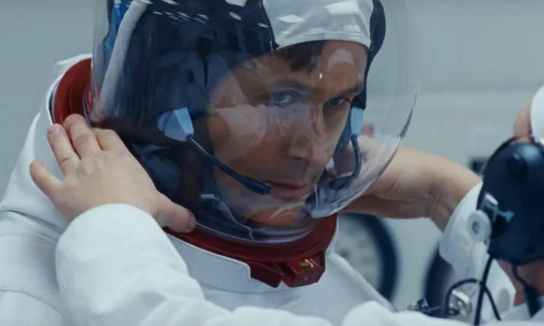 Ryan Gosling vive Neil Armstrong em 'O primeiro homem' Foto: Divulgação