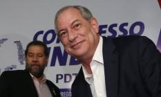 O pré-candidato do PDT, Ciro Gomes, e o presidente do partido, Carlos Lupi Foto: Ailton de Freitas / Agência O Globo