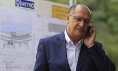 Pré-candidato do PSDB ao Planalto, Geraldo Alckmin Foto: Edilson Dantas / Agência O Globo