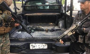 Material apreendido em operação policial no Morro dos Macados, no último dia 29 Foto: Divulgação