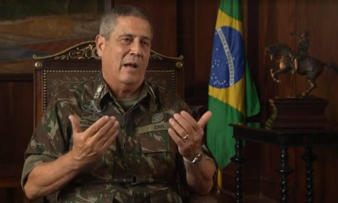 General Braga Neto Foto: reprodução / Agência O Globo