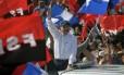 Celebração. Hoje acusado de autoritarismo por antigos aliados, Daniel Ortega liderou em Manágua as comemorações do aniversário da queda de Somoza, e chamou adversários de golpistas Foto: MARVIN RECINOS / Martin Recinos/AFP