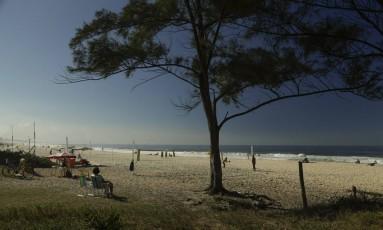 Posto 11 da Praia do Recreio: Trecho de aproximadamente 140 metros, entre a Avenida Albert Sabin e a Rua Hélio de Brito, foi renomeado como Praia do Guido Foto: Arquivo / 31/05/2018 / Gabriel de Paiva / Agência O Globo
