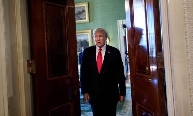 Presidente Donald Trump chega a um evento na Casa Branca. Foto: Brendan Smialowski/AFP