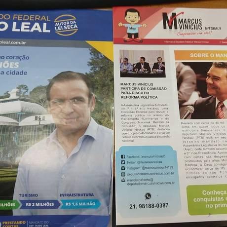 Informativos foram apreendidos e encaminhados à Justiça Eleitoral Foto: Reprodução