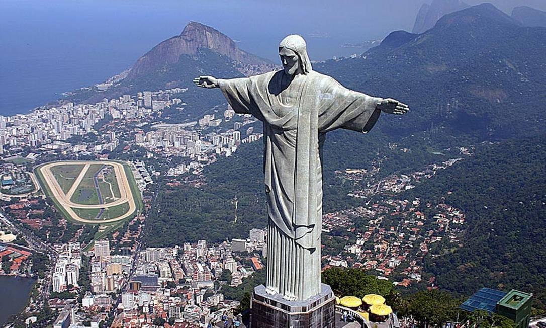 Vista do Cristo Redentor, no Rio de Janeiro Foto: Globo.com
