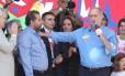 O presidente do PDT, Carlos Lupi, e o candidato do partido à Presidência, Ciro Gomes Foto: Ailton Freitas / Agência O Globo