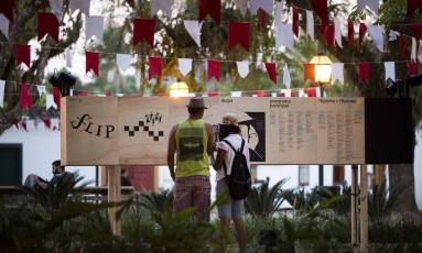 Flip 2018 acontece entre 25 e 29 de julho Foto: Mônica Imbuzeiro / Agência O Globo