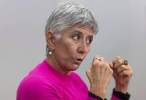 Olga Curado diz que optou por não trabalhar com nenhum candidato nas eleições deste ano Foto: Edilson Dantas / Agência O Globo