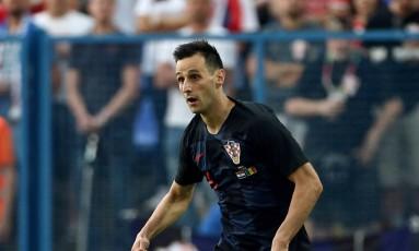 Nikola Kalinic foi cortado após o primeiro jogo da Copa do Mundo Foto: Antonio Bronic / Reuters