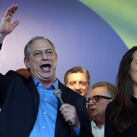 O presidenciável Ciro Gomes (PDT) em convenção do partido Foto: Givaldo Barbosa / Agência O Globo