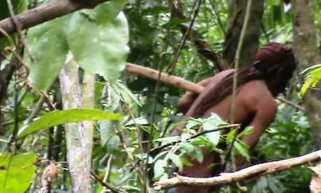 Vídeo único mostra o último índio da Terra Indígena Foto: Funai