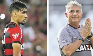 Lucas e Marcos Paquetá se enfrentam neste sábado, no Maracanã Foto: Reprodução