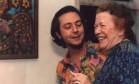 O escritor Mora Fuentes e a poeta Hilda Hilst nos anos 1990 Foto: Acervo Instituto Hilda Hilst / Divulgação