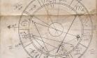 Mapa astral de Hilda Hilst feito por Caio Fernando Abreu em 1969 Foto: Instituto Hilda Hilst