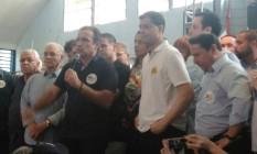 Hugo Leal e Indio da Costa na convenção do PSD Foto: Igor Mello