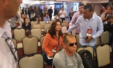 Valéria Monteiro em convenção do PMN Foto: Bruno Góes / O Globo