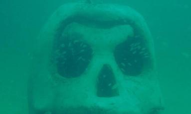 Escultura do Underwater Art Museum, aberto recentemente na Flórida Foto: Divulgação/Underwater Art Museum