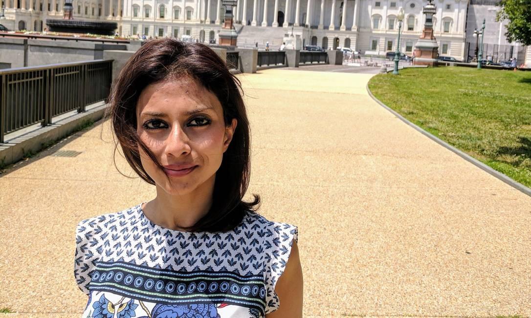 Mulher-coragem. Com três filhos e grávida de seis meses, ela negociou com contrabandistas sua partida da Síria Foto: Acervo pessoal