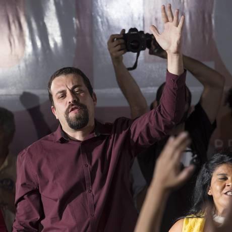 PSOL ratificou candidatura de Guilherme Boulos à Presidência Foto: Edilson Dantas / Agência O Globo