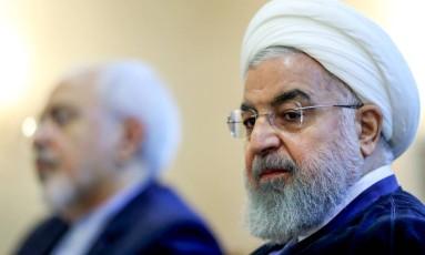 O presidente do Irã, Hassan Rouhani, fez ameaças de guerra contra os EUA Foto: - / AFP