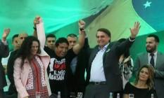 Lançamento da candidatura de Jair Bolsonaro à Presidência Foto: Guilherme Pinto / Agência O Globo